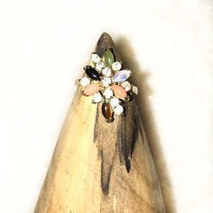 Vintage Gold Tone Cluster Ring (Costume)